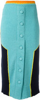 Maison Margiela paneled knitted skirt - women - Cotton/Polyamide - XS