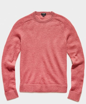 Todd Snyder Brushed Italian Mohair Wool Sweater in Vintage Rose