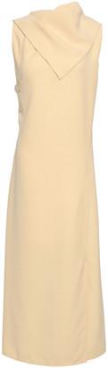 Joseph Ceil Strap-detailed Draped Crepe Midi Dress