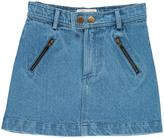 APRIL SHOWERS Denim pocket Abigael Skirt Blue