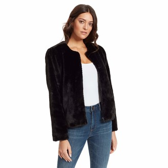 Skinnygirl womens Commentary Lush Faux Fur Jacket