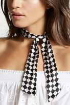 Forever 21 Checkered Print Satin Scarf