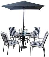 Portland 6-Piece Steel Set With Cushions And 2m Parasol