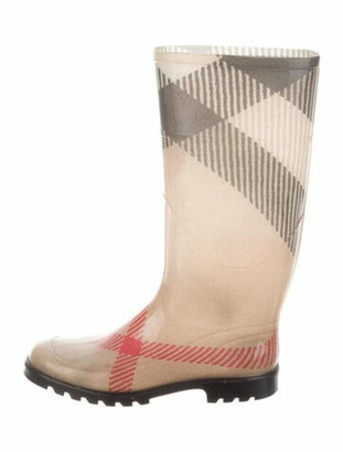 Burberry Exploded Check Pattern Rubber Rain Boots