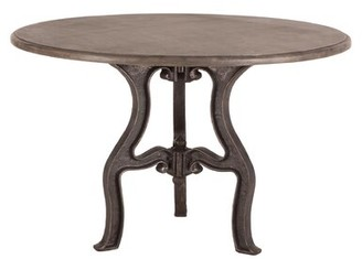 Home Trends & Design Regina 48-Inch Round Marble Top Dining Table Home Trends & Design