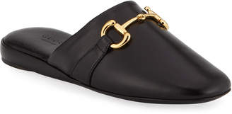 Gucci Pericle Leather Horsebit Mules