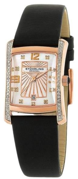 Stuhrling Original Daisy 145D.12457 Stainless Steel Leather & Diamond 22mm x 26mm Watch