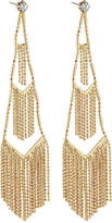 Lydell NYC Tiered Fringe Drop Earrings