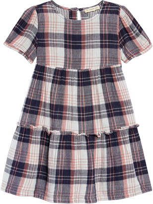 Tucker + Tate Double Plaid Tiered Dress