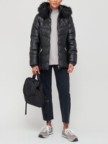 Thumbnail for your product : Very Short Faux Leather Padded Coat - Black