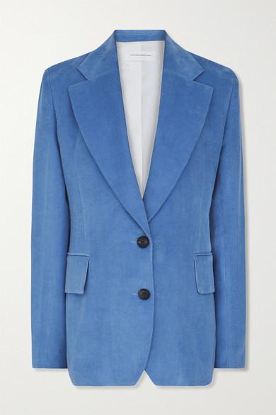 Victoria Beckham Cotton-corduroy Blazer - Blue
