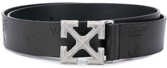 Off-White Arrow logo-plaque belt