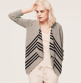 LOFT Lou & Grey Texture-Stripe Cardigan