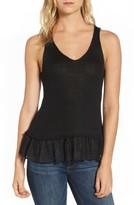 Dex Women's Woven Hem Sleeveless Sweater