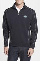 Cutter & Buck Men's 'New York Jets - Edge' Drytec Moisture Wicking Half Zip Pullover