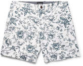 Club Monaco Baxter Slim-Fit Floral-Print Linen And Cotton-Blend Twill Shorts