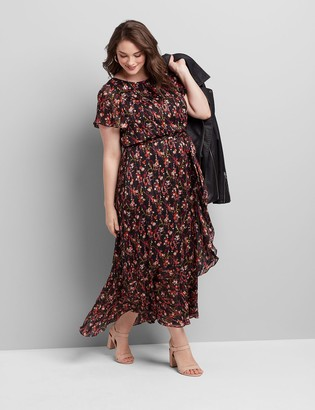 Lane Bryant Shimmer Floral Midi Dress