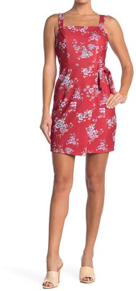 Betsey Johnson Square Neck Faux Wrap Dress