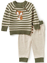 Wendy Bellissimo Baby Boys 3-9 Months Fox-Applique Top and Pants Set