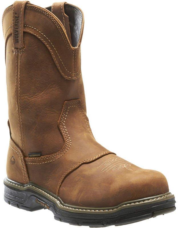 d3ce99af29b Mens Anthem Waterproof Slip Resistant Steel Toe Work Boots Pull-on