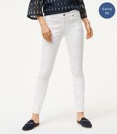 LOFT Curvy Skinny Jeans in White