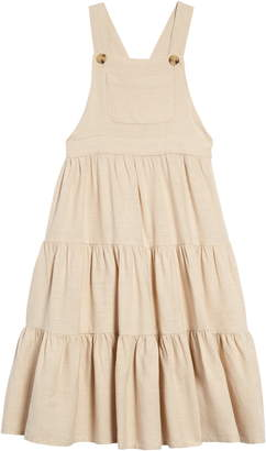 Seed Heritage Tiered Linen Pinafore Maxi Dress
