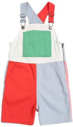 Stella Mccartney Kids Color Block Stretch Denim Overalls