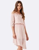 Forever New Asymmetric Bardot Dress