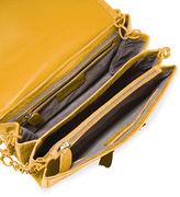 Nancy Gonzalez Crocodile Small Flap Shoulder Bag, Black