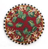 Mackenzie Childs MacKenzie-Childs Holly & Berry Beaded Placemat