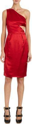 Prabal Gurung One Shoulder Side Cutout Dress