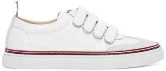 Thom Browne White Vulcanized Calfskin Sneakers