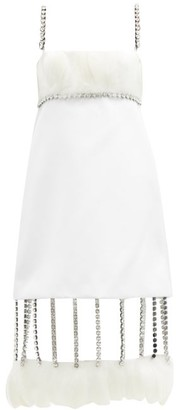 Christopher Kane Cupchain-strap Removable-hem Duchess-satin Dress - White