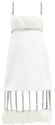 Christopher Kane Cupchain-strap Removable-hem Duchess-satin Dress - Womens - White