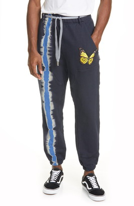 Palm Angels Butterfly Patch Tie Dye Jogger Pants