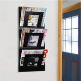 The Metal House Limited Wall Mounted Three Tier Magazine Rack