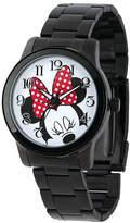 Disney Princess Disney Minnie Mouse Womens Black Stainless Steel Watch Family