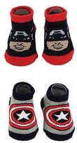 Marvel Size 0-12M 2-Pack Captain America Booties
