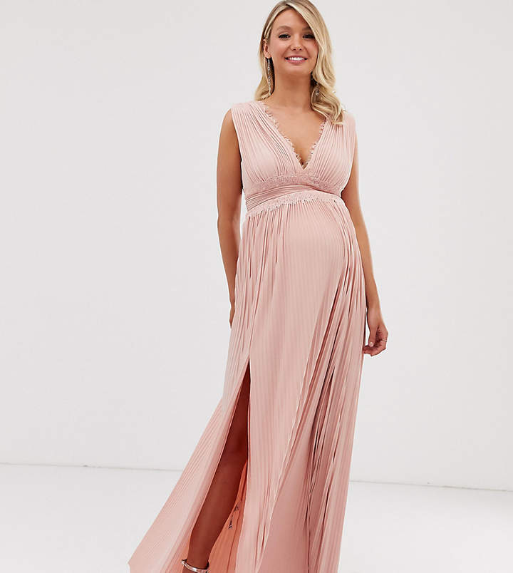 20d0b9ee7ee77 Lace Maternity Maxi Dress - ShopStyle