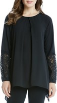 Karen Kane Lace Sleeve Handkerchief Top