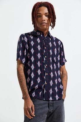 Raga Man Embroidered Short Sleeve Button-Down Shirt