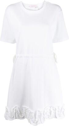See by Chloe ruffle-applique T-shirt dress