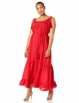 City Chic Women's Apparel Women's Plus-size Tiered maxi dress with tassel detail Dress