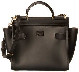 Dolce & Gabbana Sicily Small Leather Satchel