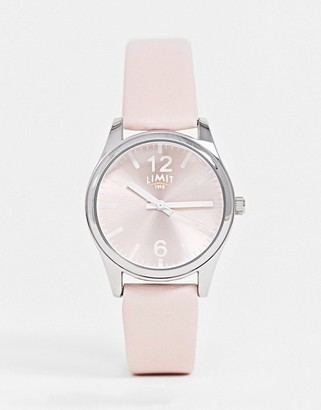 Limit leather watch in pink
