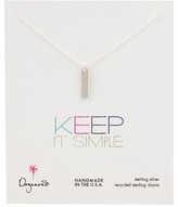 Dogeared Jewels Keep It Simple Long Bar Necklace (Sterling Silver) - Jewelry