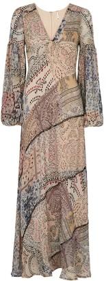 Free People Moroccan Dream printed chiffon maxi dress