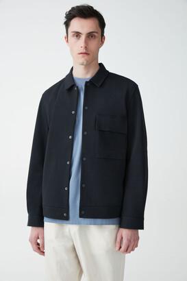 Cos Cotton-Twill Shirt Jacket