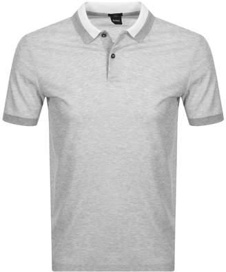 HUGO BOSS Boss Business Phillipson 55 Polo T Shirt Grey
