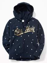 Old Navy Logo-Graphic Full-Zip Fleece Hoodie for Girls
